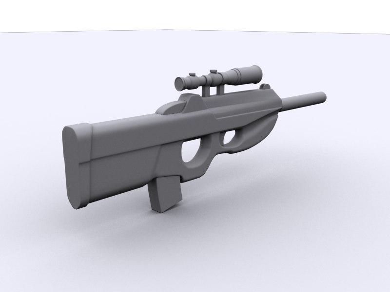 fn2000 assault rifle 3d max