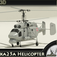 3d model ka25a helicopter