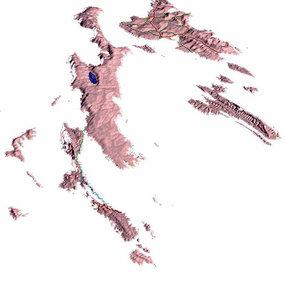 3d model islands natural sea