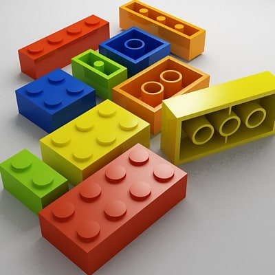 3ds max lego building blocks