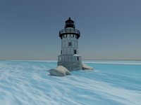 free 3ds model conimicut lighthouse
