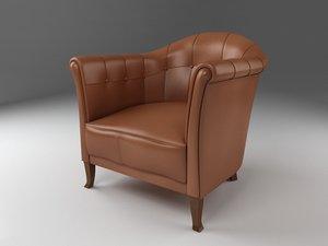 edward ferrel lounge chair 3d model