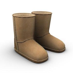 uggs boots 3d model
