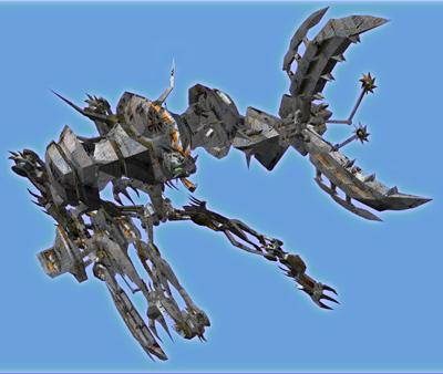 gunblade centaur blades 3d obj