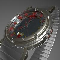 3d model hand watch