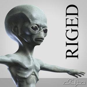 alien creature biped 3d max