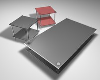 3d table little design model