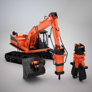 excavator attachment 3d model