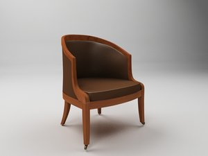3d model library tub chair