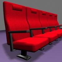 3d theatre seats model