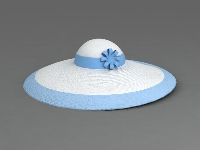 3d hat women model