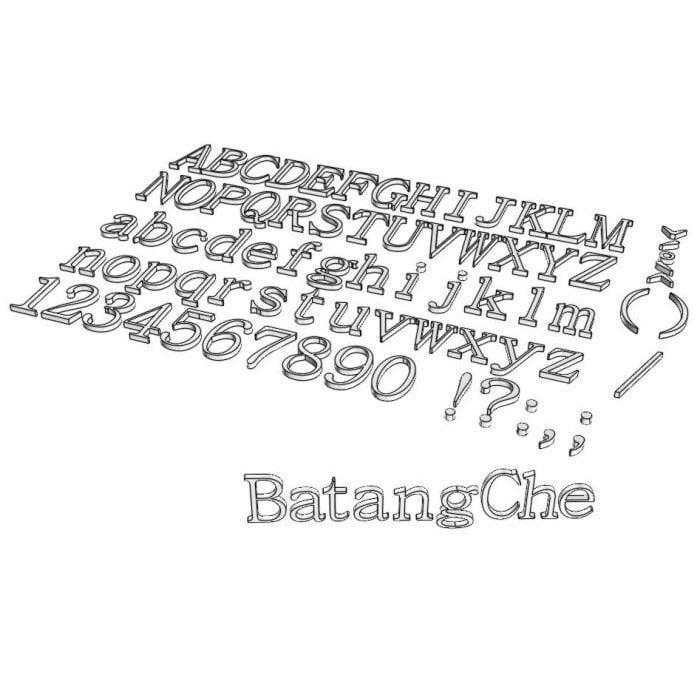 font batangche 3d 3ds