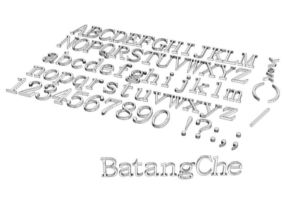 Batangche Normal Font