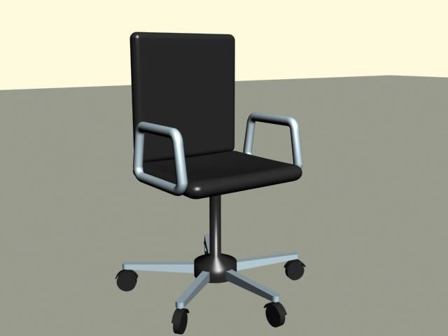 3ds max office lawn chair