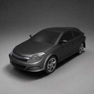 3d car sedan model