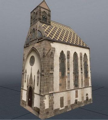 gothic chapel 3d lwo