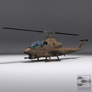 bell ah-12 cobra 3d model