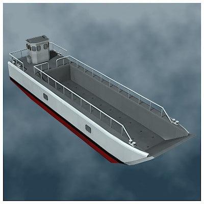 lcm landing craft mechanized 3d 3ds
