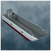 lcm landing craft mechanized 3d 3ds