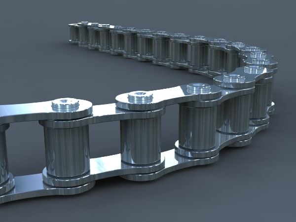 3d model chain links