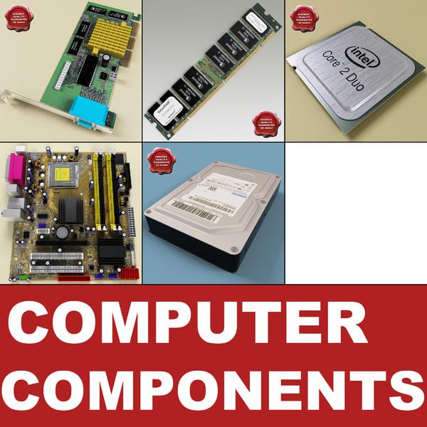 3d model computer components v2