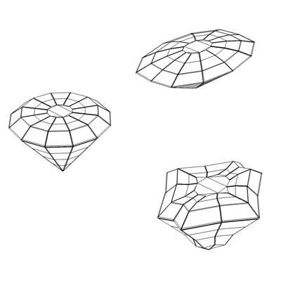 3d diamonds