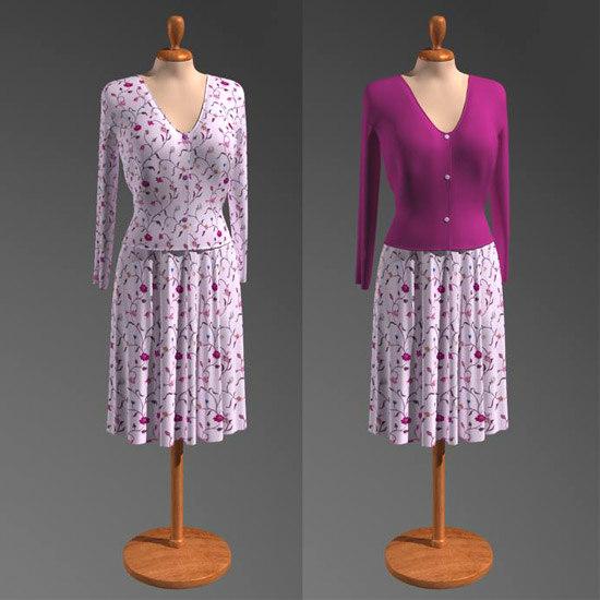 showroom dummy clothes 3d model