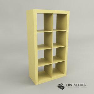 3d model of ikea bookcase