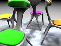 alien chair invasion 3d model
