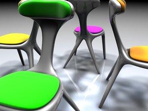 alien chair invasion 3d model