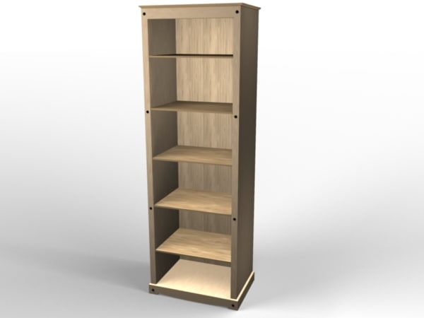 bookcase cabinet 3ds