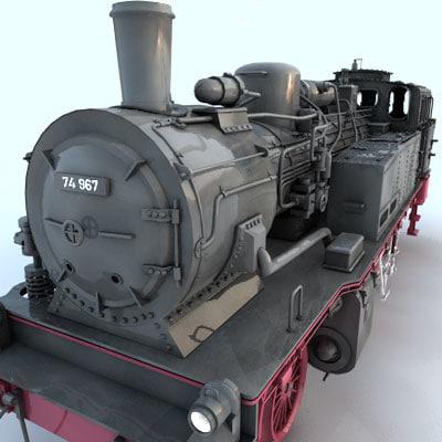 maya steam locomotive 74 loco