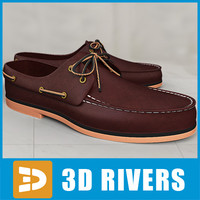 3ds max man boat shoes
