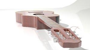guitar acoustic strings 3d model