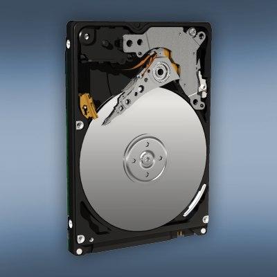 3d model notebook hard drive