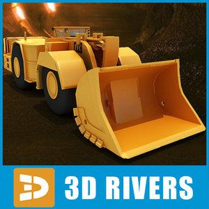 3ds max underground mining loader