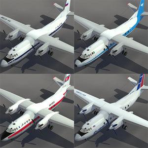 3d model aeroflot russia ariana
