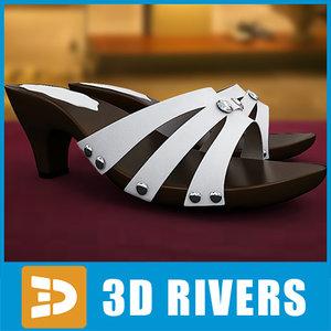 sandals shoes footwear 3ds