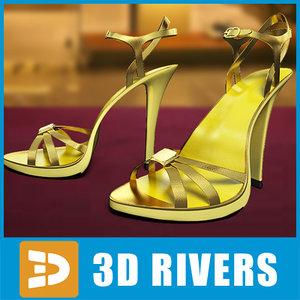 3d yellow heels