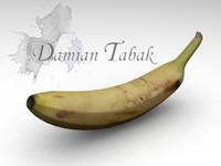 banana fruits 3d max
