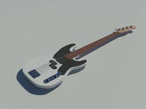 3d model fender bass guitar