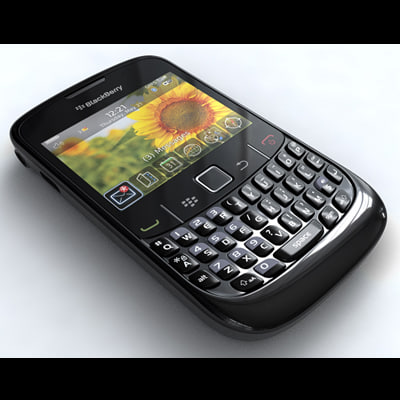 3d blackberry curve 8520 model