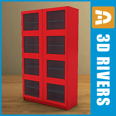 bookcase furniture bookshelf 3d obj