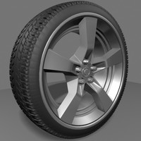 3dsmax tire rim