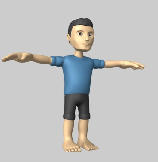 maya cartoony man