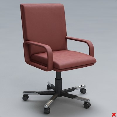 chair office 3d 3ds