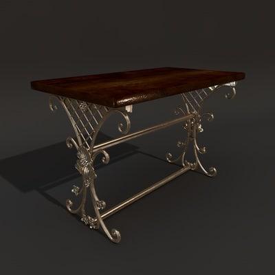 3d model victorian table
