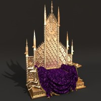 3d queens throne model