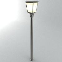 maya pole lamp light