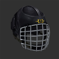 hockey helmet 3d obj